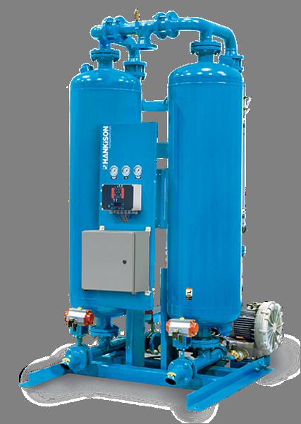 heated blower purge regenerative desiccant dryer