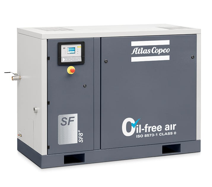 industrial air compressors oil free rotary screw compressor