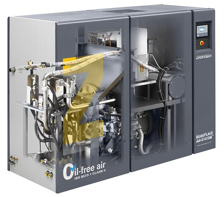 Atlas Copco oil free compressors