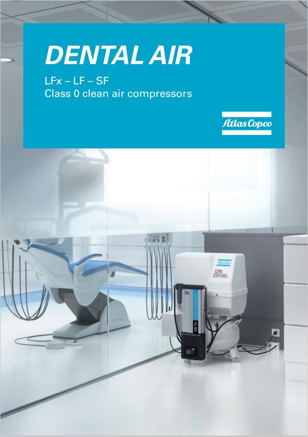 Atlas Copco oil free compressors dental air