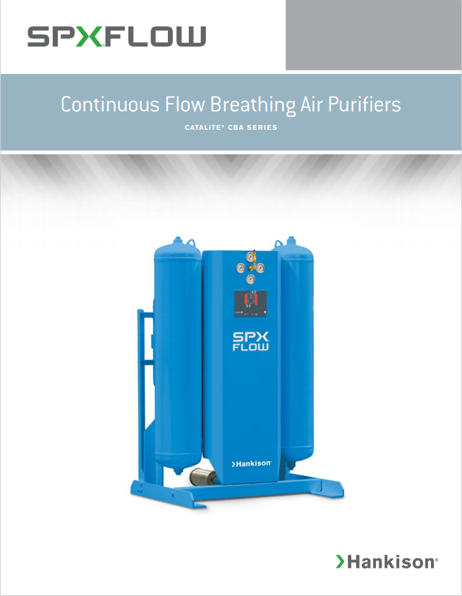 continuous flow breathing air purifiers brochure
