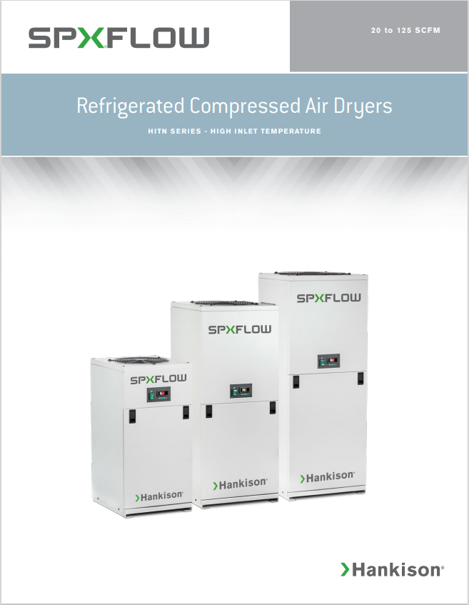 High Inlet Temperature Compressed Air Dryers Brochure