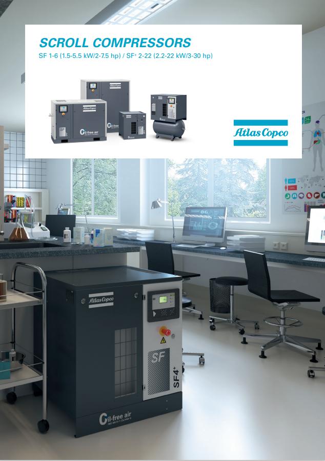 Atlas Copco oil free compressors scroll compressors