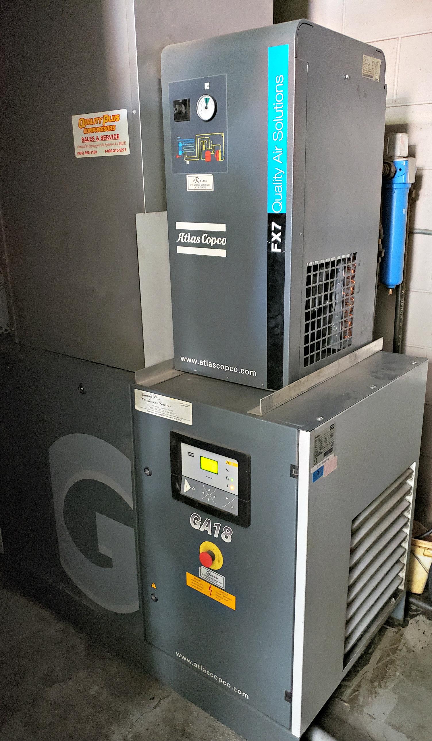 Atlas Copco Air Compressor GA18-FX7 Quality Air Solutions