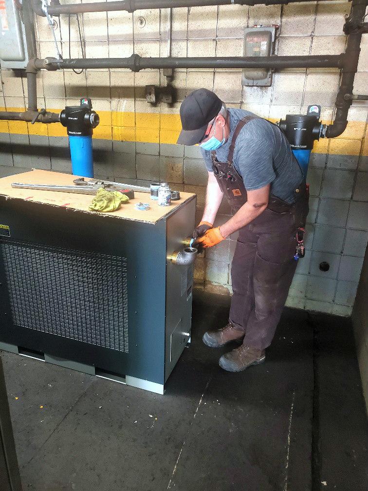 Installing a SPX FLEX Hankison Dryer