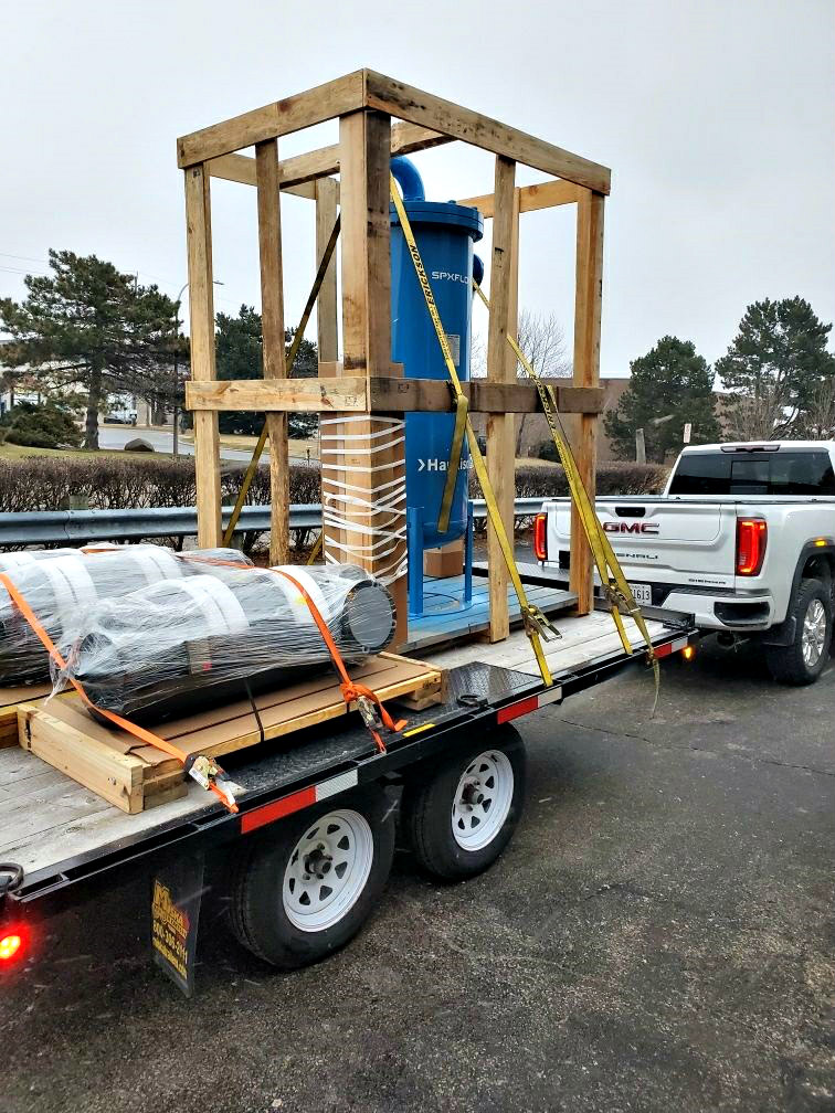 Transporting a Hankison Mist Eliminator